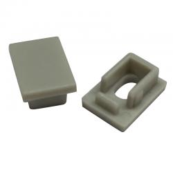 Πλαστικές Τάπες Με Και Χωρίς Τρύπα EP129 Για Προφίλ Αλουμινίου P129 2τμχ - ACA