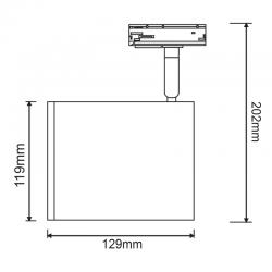 Φωτιστικό Σποτ Ράγας Μονοφασικό 2 Καλωδίων Σε Διάφορα Χρώματα 1x AR111-GU10 - ACA