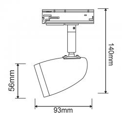 Φωτιστικό Σποτ Ράγας Μονοφασικό 2 Καλωδίων Σε Μαύρο ή Λευκό Χρώμα 1x GU10 - ACA