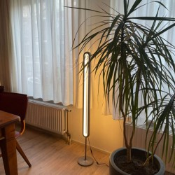 Allocacoc LightPillar - Dimmable - Standing Floor Lamp With Touch Brightness Adjustment & Remote Control (gray)