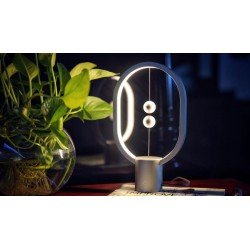 Heng Balance Plastic Lamp Ellipse With Magnet Switch Silver - Allocacoc