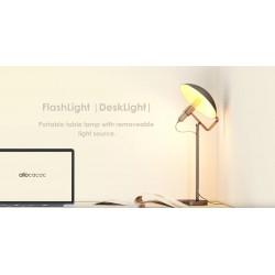 Επαναφορτιζόμενος Φακός LED Με Βάση Γραφείου  (Μαύρος ή Ασημί ) FlashLight DeskLight Με Θερμό Φωτισμό- Allocacoc