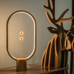 Heng Balance Wooden Lamp Ellipse With Magnet Switch - Allocacoc