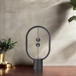 Heng Balance Mini Plastic Lamp Ellipse With Magnet Switch Dark Grey - Allocacoc