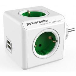 PowerCube - Original USB Πολύπριζο 4 θέσεων & 2 USB Σε Διάφορα Χρώματα - Allocacoc