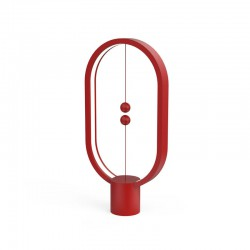 Heng Balance Plastic Lamp Ellipse With Magnet Switch Red - Allocacoc