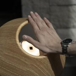 Επιτραπέζιο Φωτιστικό Με Ανιχνευτή Κίνησης Σε Δύο Αποχρώσεις Ξύλου LightShade Tulip - Allocacoc
