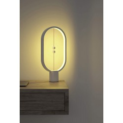 Heng Balance Plastic Lamp Ellipse With Magnet Switch White - Allocacoc