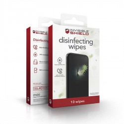 ZAGG InvisibleShield® Disinfecting Wipes - Antibacterial Wipes with 70% Isopropyl Alcohol 10pcs