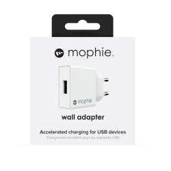 Mophie Wall Adapter USB-A Οικιακός Φορτιστής Quick Charge Ισχύος 18W  Σε Μαύρο ή Λευκό