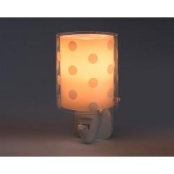 Dots Pink Φωτιστικό Νύκτας Πρίζας LED 1xE14 - Ango