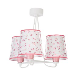 Dream Flowers Pink Παιδικό Φωτιστικό Οροφής Τρίφωτο 3xE27 Ango