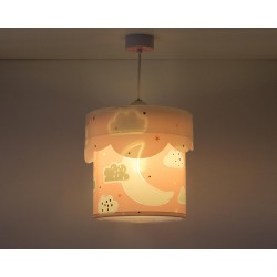 Moon Pink Παιδικό Φωτιστικό Οροφής 1x E27 - ANGO