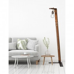 Floor Lamp From Wood And Rope 1xE27 - Arkolight