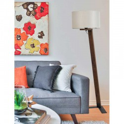 Floor Lamp From Wood And Fabric Hats In Various Colors 1xE27 - Arkolight