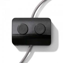 Double Foot Switch Black Monopole by Achille Castiglioni - Creative Cables