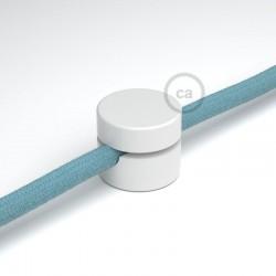Universal Στήριγμα Τοίχου για Υφασμάτινο Καλώδιο, Λευκό - Creative Cables