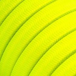 Πλακέ Υφασμάτινο Καλώδιο για Γιρλάντα Creative Cables - Κίτρινο Φωσφοριζέ CF10