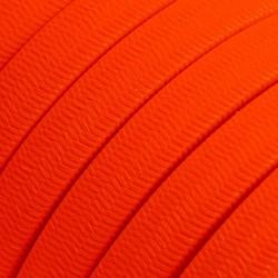 Πλακέ Υφασμάτινο Καλώδιο για Γιρλάντα Creative Cables - Πορτοκαλί Φωσφοριζέ CF15