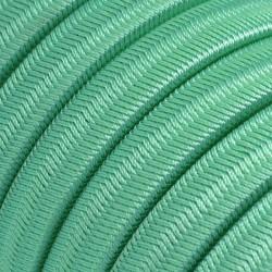 Πλακέ Υφασμάτινο Καλώδιο για Γιρλάντα Creative Cables - Πράσινο Οπάλ CH69