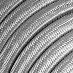 Πλακέ Υφασμάτινο Καλώδιο για Γιρλάντα Creative Cables - Ασημί CM02