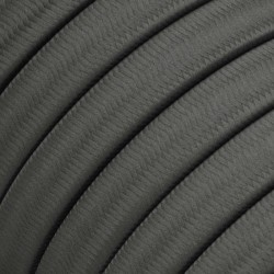Πλακέ Υφασμάτινο Καλώδιο για Γιρλάντα Creative Cables - Γκρι CM03