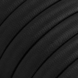 Πλακέ Υφασμάτινο Καλώδιο για Γιρλάντα Creative Cables - Μαύρο CM04