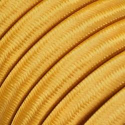 Πλακέ Υφασμάτινο Καλώδιο για Γιρλάντα Creative Cables - Χρυσό CM05