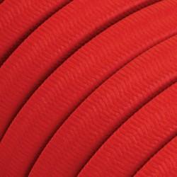 Πλακέ Υφασμάτινο Καλώδιο για Γιρλάντα Creative Cables - Κόκκινο CM09