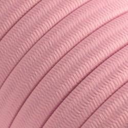 Πλακέ Υφασμάτινο Καλώδιο για Γιρλάντα Creative Cables - Ροζ CM16