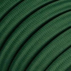 Πλακέ Υφασμάτινο Καλώδιο για Γιρλάντα Creative Cables - Σκούρο Πράσινο CM21