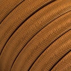 Πλακέ Υφασμάτινο Καλώδιο για Γιρλάντα Creative Cables - Καφέ Ουίσκι CM22