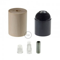 Lampholder E14 Wooden With Cable Support - Creative Cables