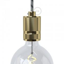 Aluminum Industrial Lampholder E27 Gold - Creative Cables