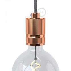 Ντουί Αλουμινίου Βιομηχανικό Ε27 Χάλκινο - Creative Cables