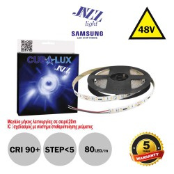 Led Strip JAZZ 48V 18 Watt IP20 SAMSUNG Chip 5m - Maximum operating length 20m - CUBALUX