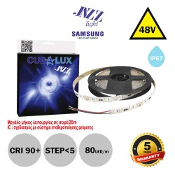 Led Strip JAZZ 48V 18 Watt IP67 SAMSUNG Chip 5m - Maximum operating length 20m - CUBALUX