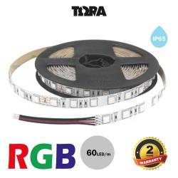 Led Strip 14.4W 24V IP65 RGB TΩRA 5 m CUBALUX