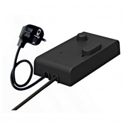 Switch With 150cm+250cm Cable and Dimmer 300W Black - Cubalux