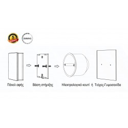 1 Zone Wireless Dimming Touch Switch (Battery Operated) - Cubalux