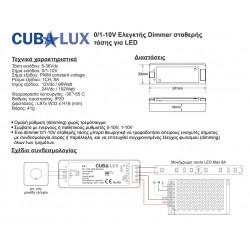 Dimmer Controller 0/1-10V Simplicity 8A - Cubalux