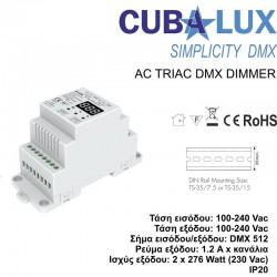AC Triac DMX Dimmer 2 x 1.2 A - Cubalux
