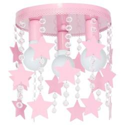 Παιδικό Φωτιστικό Οροφής 3-φωτο με Αστέρια Σε Ροζ Χρώμα 3x E27 60W Elza - MiLagro