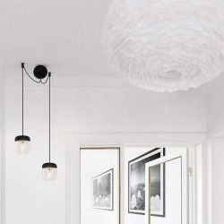 Silicone Canopy Black Round Cannonball Cluster 2 by UMAGE