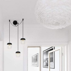 Silicone Canopy Black Round Cannonball Cluster 3 by UMAGE