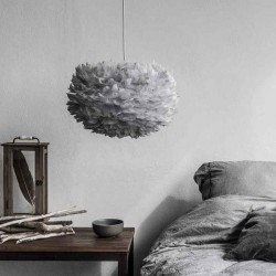 Feather lamp with EOS D45 Medium Light Grey by UMAGE