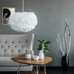 Feather lamp with EOS Medium D45 White by UMAGE