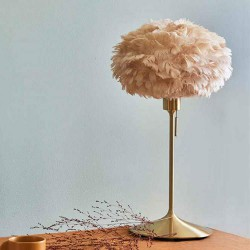 Feather lamp with EOS Mini D35 Light Brown by UMAGE