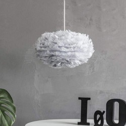 Feather lamp with EOS Micro D35 Light Grey by UMAGE