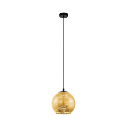 Black - Gold Pendant Single Light Ø27cm 1x40W E27 ALBARACCIN Eglo